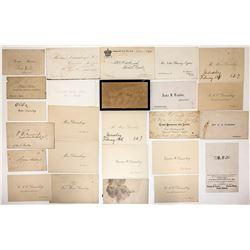 Duisenberg Estate Calling Cards  #23961