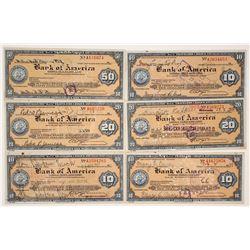 1930s Bank of America Travelers Checks  #77366