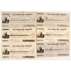 Early Weaverville Checks (6)  #87452