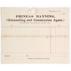Phineas Banning Billhead  #64071