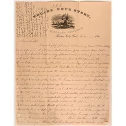 Tulare Drug Store Letterhead Handwritten Letter   #108768