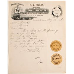 H.B. McCay Pictorial Letterhead & Circular Business Cards  #60058