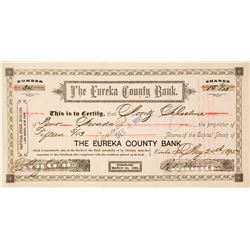 Eureka County Bank Stock Certificate, 1895  #63067