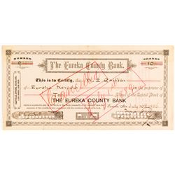 Eureka County Bank Stock Certificate  #54368