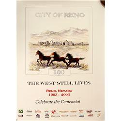 Reno, NV City Centennial Poster  #60806