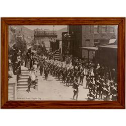 Vintage Virginia City Parade Enlarged Poster  #102746