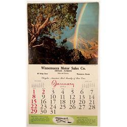 Winnemucca Motor Sales Calendar  #102755