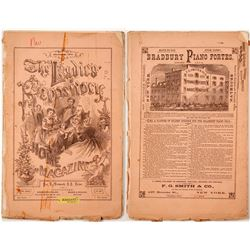 Ladies' Repository Magazine, 1873 with Article on Nevada Lakes  #77632