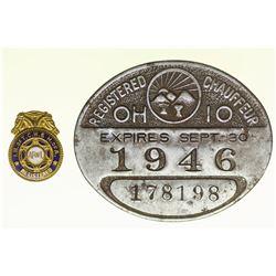 Chauffeur License & AFL Pin  #50407