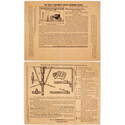 c.1896 Ad for Giant Lightning Vehicle Washing Device  #77510