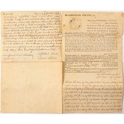1829 Pennsylvania Will (Possible Newbold Estate)   #56341