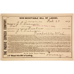 Pacific Express Bill of Lading  #63170