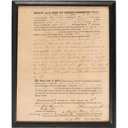 Deed for Selling a Tract of Land in Early Vermont  #104492