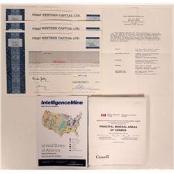 Stocks & Maps / 3 Items.  #109727