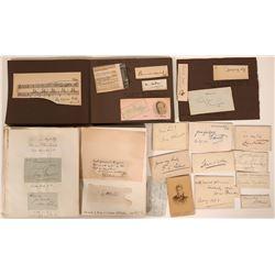 English Autograph Collection, Politicians, Actors, Sports Stars... 70+ Signatures  #105938