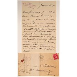 Col. T Alston Brown Signed Letter and Cover  #106481