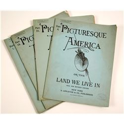 Picturesque America or the Land We Live In Booklets (4)  #86430