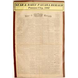 Star & Daily Panama Herald Newspaper 1887  #63115