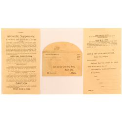Suppository Advertisement and Envelope  #51026