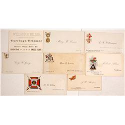 Vintage California Business & Fraternal Cards  #77553