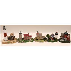 Miniature Lighthouse Figurines / 5 Items.  #109702