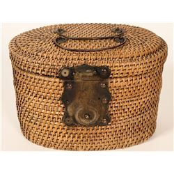 Chinese Tea Kettle in Travelling Basket.  #105937