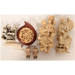 Group of Chinese Figurines and Compass  #109761