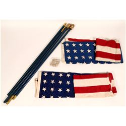 American Flags, 48 Stars, on Six-foot Poles (2)  #108996
