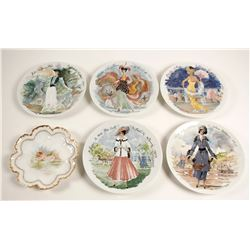 Collectors Plates with Ladies (6)  #90247
