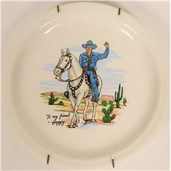 Hopalong Cassidy Dinner Plate, Blue Suit  #109469