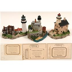 Lighthouse Figurines / 3 Items.  #109700