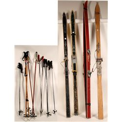 Skis and Ski Poles - Gresvig, Norway and others  #110698
