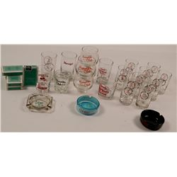 Nevada Casino Glasses and Ashtrays  #106556