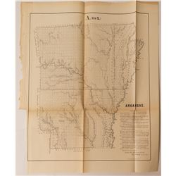 1855 Arkansas Map  #54327