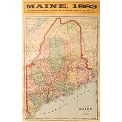 Maine Map  #59636