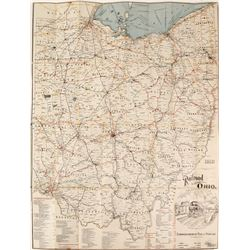 Bound Ohio Railway Map  #80750