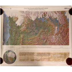 Map of Glacial Lake Missoula and the Channeled Scabland  #91359