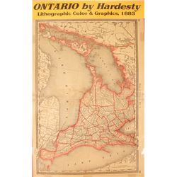 Ontario Map by Hardesty  #59635