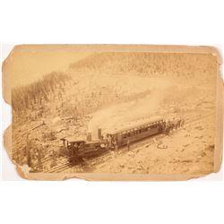 Manitou & Pikes Peak Railroad Cabinet Card  #56454