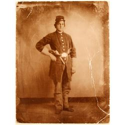 Civil War Photo of Volunteer Infantry Soldier  #79118