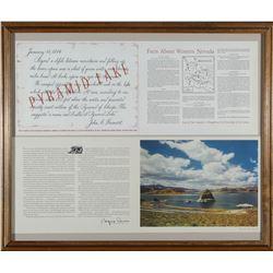 Framed Pyramid lake, NV Facts and Photo  #87633