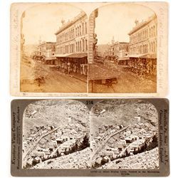 Two Stereoviews Mislabeled as Nevada  #77355