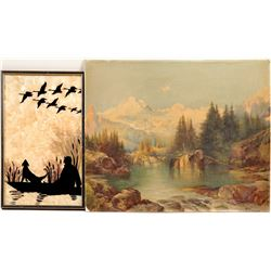 Photo & Silhouette  / Mountains & Hunting /  2 Items.  #105390