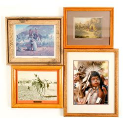 Framed Native American Prints and Photos (4)  #98027
