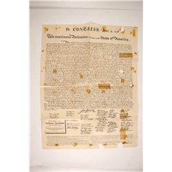 1876 Copy of the Declaration of Independence   #77652