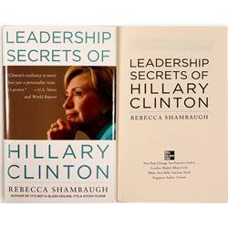 "Book : "" Leadership Secrets Of Hillary Clinton"".  #105409"