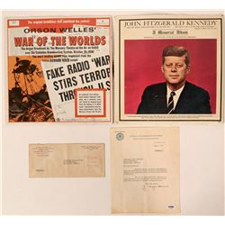 J. Edgar Hoover Signed Letter With J.F.K. Memorial Album  #110284