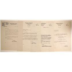 Senator Pat McCarran Signed Letters (4)  #89977