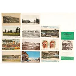 Williams, AZ Postcards (11 count) with RPC's   #61774