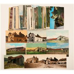 Carmel/Monterey Area Mission Postcards  #102662